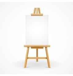 Wooden easel empty vector image