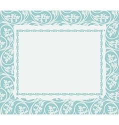 Frame on a ornamental background vector image vector image
