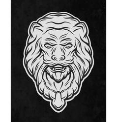 Lion head door on a dark background vector