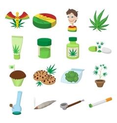 Medical marijuana icons vector image