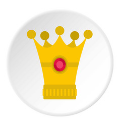Medieval crown icon circle vector