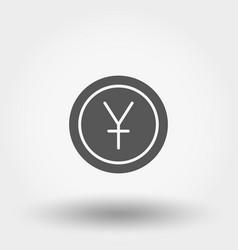 Money sign coin yuan vector