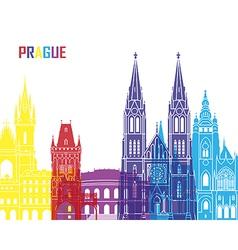 Prague skyline pop vector image vector image
