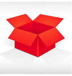 red packing box vector image