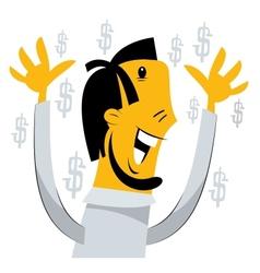 Success of a businessman vector image
