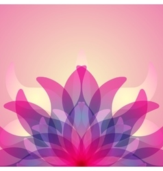 Colorful background with abstract flower vector image