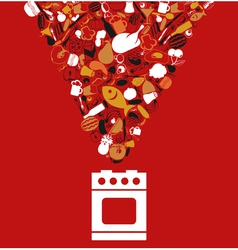 Food cooking vector image vector image