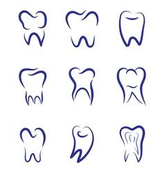 Set modern logo for dentistry Logo for dental vector image vector image
