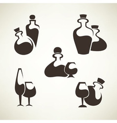 wine and alcohol collection vector image vector image