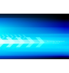 Abstract tech background with arrows vector image vector image