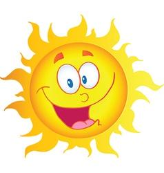 Happy Sun Cartoon Character vector image vector image