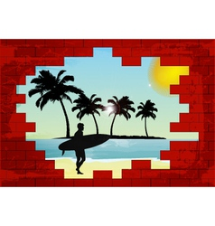 holiday wall vector image vector image