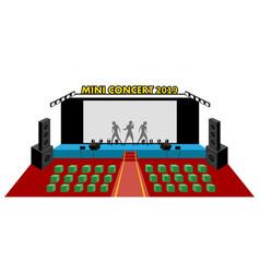 perspective mini concert in 3d flat design vector image