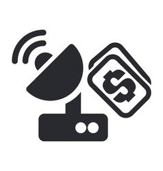 satellite price icon vector image vector image