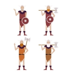 Set of Barbarians vector image