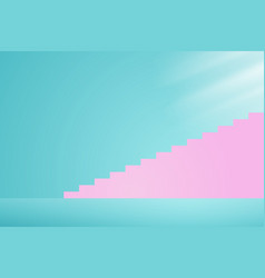 stairway to the light vector image vector image