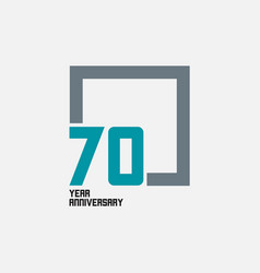 70 year anniversary square template design vector