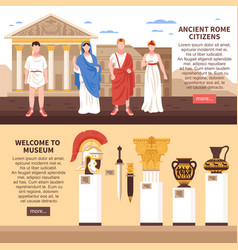 Ancient rome horizontal banners vector