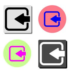 arrow login flat icon vector image