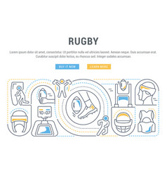 banner rugby vector image
