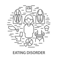 Banners for eating disorder vector