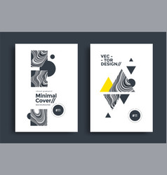 black and white geometric abstract poster design vector image