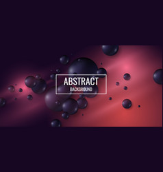 black spheres on a bright background abstract vector image