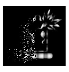 Bright shredded dotted halftone condom sperm vector