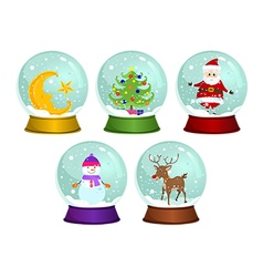 Christmas Snow Globes vector