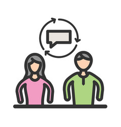 coaching and mentoring vector image