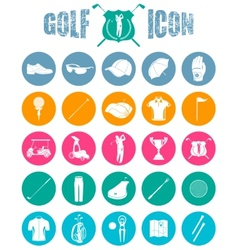 Colorful icons on of golf vector image