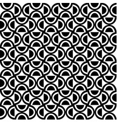 Decorative geometric pattern black and white vector