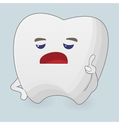 Displeased tooth vector