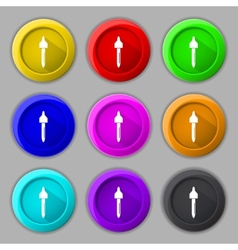 dropper sign icon pipette symbol Set of colored vector image