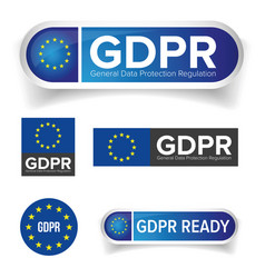 Gdpr - eu general data protection regulation vector