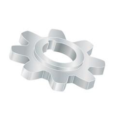gear wheel metal 3d part vector image