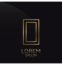 Golden O Letter vector image