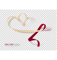 Head and neck cancer awareness month burgundy vector