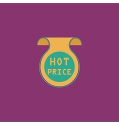 Hot price sticker Badge Label vector image