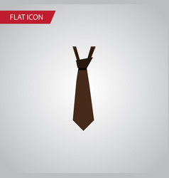 isolated style flat icon tie element can vector image