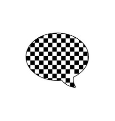 Line oval chat bubble text message style vector
