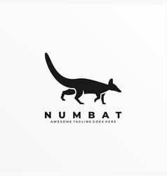 Logo marsupial walking silhouette style vector