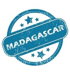 MADAGASCAR round stamp vector