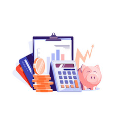 Maintain financial statements of company vector
