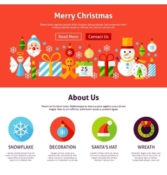 Merry Christmas Web Design vector image