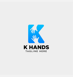 Minimal k letter initial hand logo template icon vector