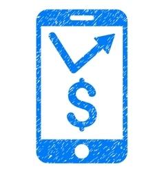 Mobile Sales Report Grainy Texture Icon vector