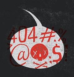 Modern design for printing on T-shirt Figure 404 vector image