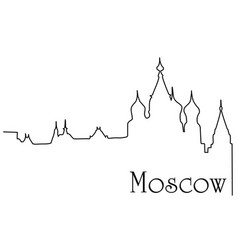 Moscow city one line drawing background vector