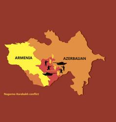 Nagorno-karabakh conflict map vector